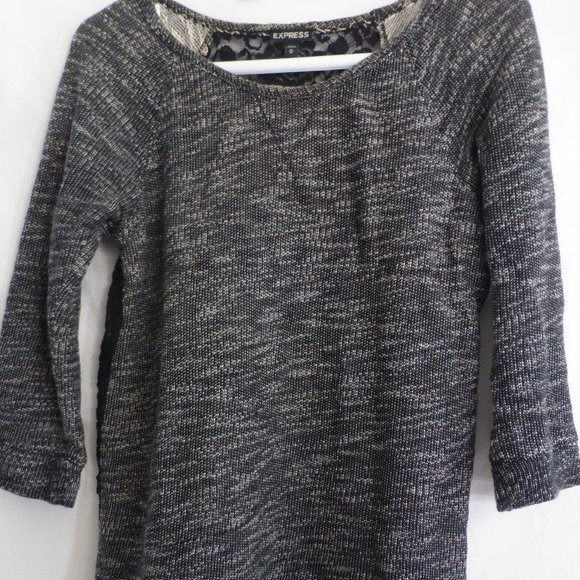 EXPRESS, medium, long sleeve shirt with lace back